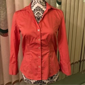 Banana Republic coral/pink button up